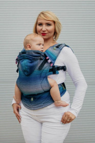 LennyLamb Baby Size, Full Wrap Conversion - LITTLE HERRINGBONE ILLUSION- (Second Generation)