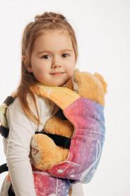 Marsupiu de jucarie pentru copii, Lennylamb, Symphony Rainbow Light