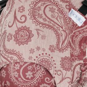 Marsupiu Ergonomic, Fidella Fusion Baby Wrap Conversion, Persian Paisley- Ruby Red