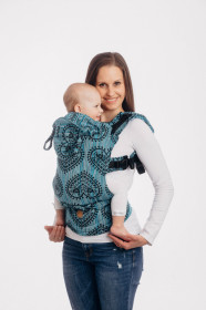 Marsupiu Ergonomic, LennyGo Baby size, Folk Hearts Midsummer Night