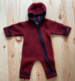 Overall din lână fiartă cu mănuși și botoșei, Stapf - Dark Red/ Midnight