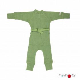 Overall Manymonths lână merinos - Jade Green