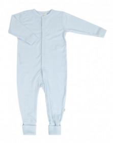 Overall/Pijama lână merinos cu/fara sosete Joha - Basic Blue