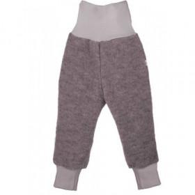 Pantaloni lână merinos organică - tumble/boiled wool, Iobio - Anthracit