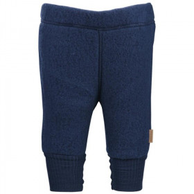 Pantaloni Mikk-line din fleece lână merinos - Blue Nights