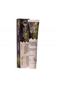 Pasta neagra de dinti cu carbune activ si ceai verde Matcha, pt. albirea dintilor, Nordics, 75 g