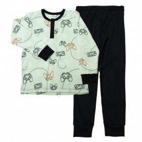Pijama din bumbac organic Joha - Gaming