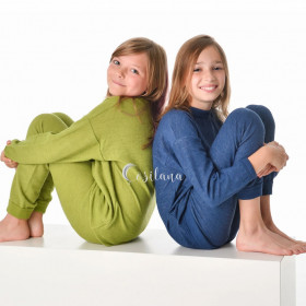 Pijama/Homewear Cosilana lână merinos terry - Navy