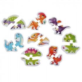 Puzzle 16 piese, Dinozauri, Cubika