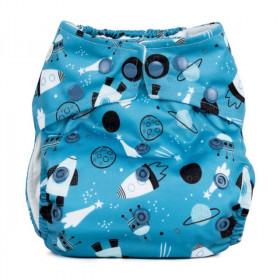 Scutec textil refolosibil cu buzunar Baba+Boo Shoot for the moon