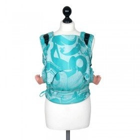 Toddler Size: Fidella Fusion Full Wrap Conversion, Sirens 60% bumbac organic, 40% in (Transport Gratuit)