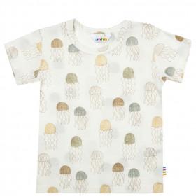 Tricou Joha lână merinos și mătase - Jellyfish