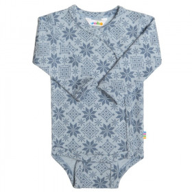 Body kimono Joha lână merinos - Snow Crystal Soft Blue