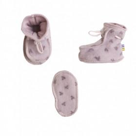 Botosei dublati din lână merinos - Joha Big V Pink