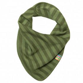 Bavețică/eșarfădin lână merinos Joha - Green Stripe