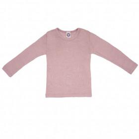Bluza Cosilana lână merinos si mătase - Rose Melange