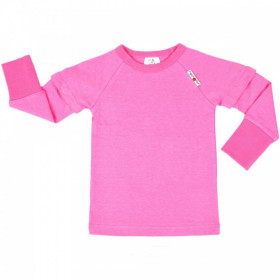 Bluza/Tricou (2 in 1) ManyMonths cânepă si bumbac organic - Pink Peony