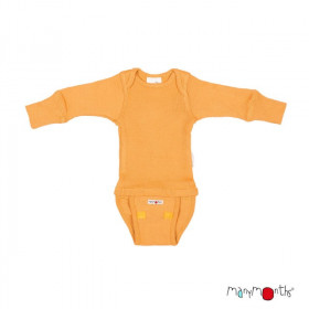 Body/Bluza (2 in 1) ManyMonths lână merinos - Golden Oat