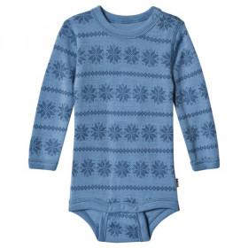 Body Joha din lână merinos -Snowflake Blue, marimea 60
