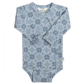 Body kimono Joha lână merinos - Snow Crystal Soft Blue, marimea 60
