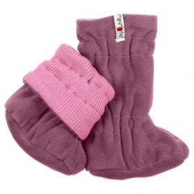 Botosei ajustabili ManyMonths Winter Booties pt babywearing - Stork Pink/Grape