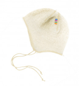 Caciula lână merinos fleece Joha - Basic White