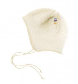 Caciula lână merinos fleece Joha - White