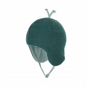 Caciula Pure Pure din lână merinos fleece dublata - Smoke Green