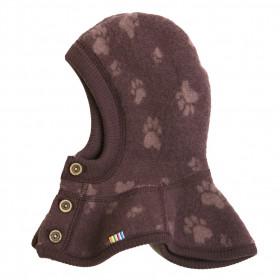 Cagula dublata Joha lână merinos fleece - Footprint Purple
