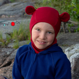 Cagula ManyMonths Teddy Bear lână merinos - Cranberry Nectar