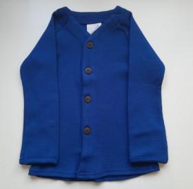 Cardigan ManyMonths lână merinos - Jewel Blue
