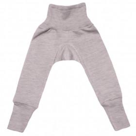 Cei mai comozi pantaloni din lână merinos si mătase, Cosilana - Grey Melange