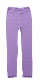 Colanti Joha Eyelet din lână merinos si mătase - Basic Purple