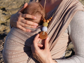 Colier baywearing si alaptare - Gold&Silver , Stejar - Kangaroo Care