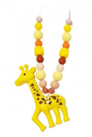 Colier de babywearing, alaptare si dentitie din silicon - Giraffe Sunshine