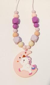Colier de babywearing, alaptare si dentitie din silicon - Lavender Moon