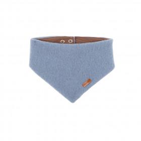 Fular triunghi din lână merinos fleece Pure Pure - Dusty Blue