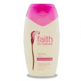 Gel pentru igiena intima cu aloe vera, Faith in Nature, 200 ml