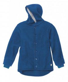 Jacheta cu nasturi din lână fiartă Disana - Navy