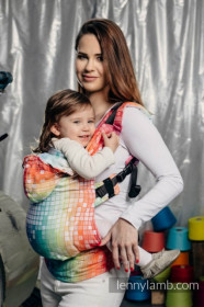 LennyLamb Baby Size, Full Wrap Conversion - MOSAIC - RAINBOW (Second Generation) + CADOU
