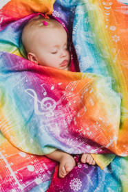 LITTLE SWADDLE SYMPHONY RAINBOW LIGHT, Lennylamb