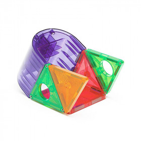 Magna-Tiles Clear Colors set magnetic (48 piese)