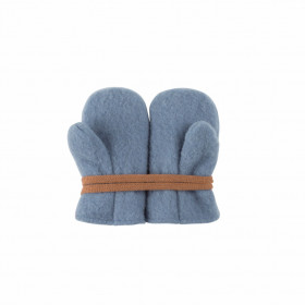 Mănusi Pure Pure lână organică fleece - Dusty Blue