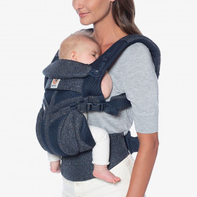 Marsupiu ergonomic,Ergobaby Omni 360 Cool Air Mesh Blue Tweed