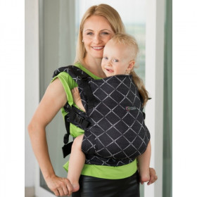 Marsupiu Ergonomic, Isara V3 Toddler, Full Wrap Conversion - DIAMONDA BLACK DENIM