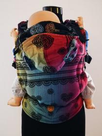 Marsupiu Ergonomic, LennyGo Baby size, Rainbow Lace Dark
