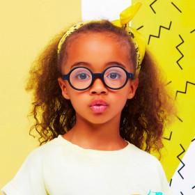 Ochelari de ecran Ki ET LA, 6-9 ani - Round Black
