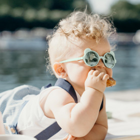 Ochelari de soare Ki ET LA, 1-2 ani - Ourson Almond Green