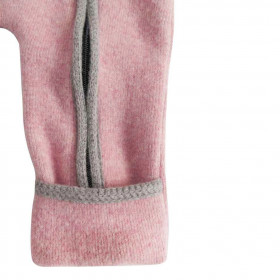 Overall din lână fiartă cu mănuși și botoșei, Stapf - Rose/Ecru