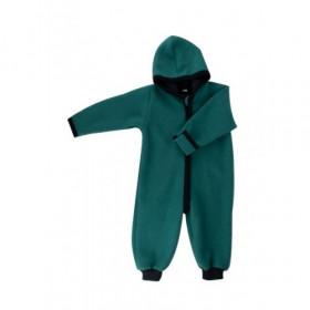 Overall lână merinos organică tumble/boiled wool Iobio - Emerald